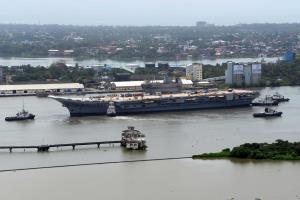 Basin Trials of Indigenous Aircraft Carrier succe...