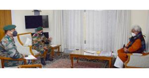 Commander 9 Corps, GoC 26 Div call on Lt Governor