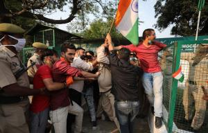 ABVP protest outside PDP office in Jammu; several...