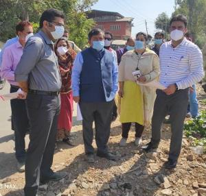 Dheeraj Gupta inspects sites for development of a...