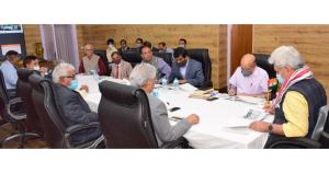 Lt Governor chairs 3rd high level meeting of powe...