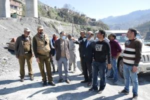 NH-44 widening project: DC Ramban inspects pace o...