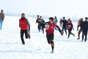 Inter-district snow rugby championship held in Bu...