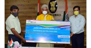 Lt Governor hands over cheque of Rs 250 crore to ...