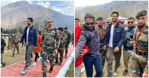 Vicky Kaushal spends his Sunday at Uri Base Camp