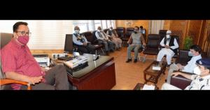 Navin Choudhary reviews arrangements for transpor...