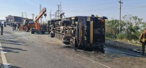 2 crushed to death after bus overturns in Jammu
