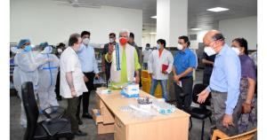 Lt Governor visits COVID hospitals in Jammu, asks...