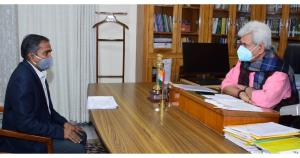 CGM NABARD, Director CSIR-IIIM call on Lt Governor