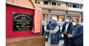 Lt Governor inaugurates, lays foundation for scor...