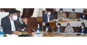 Div Com Jammu reviews development works in Poonch...